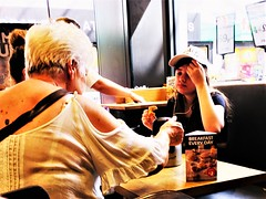 Greggs life (stevem458) Tags: greggs photography street candid girl mom lunch bored