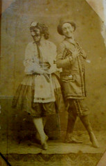 """The actors Davide and Antonio Petito of San Carlino theatre in Naples"" (about 1865-1870) - Exhibition ""Alphonse Bernoud, pioneer of photography"", up to September 25, 2018 at Carthusian monastery and museum of San Martino in Naples (Carlo Raso) Tags: actors davidepetito antoniopetito sancarlinotheatre naples alphonsebernoud photo foto photography carthusianmonastery museumofsanmartino"