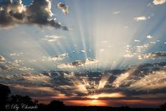 Energies (christelerousset) Tags: bleu sunset sunrays clouds london england orange yellow colors