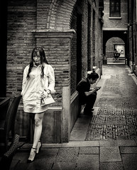 untitled--4 (Stevenchen912) Tags: streetphoto streetcandid streetportrait streetfavorites streetscene candid cadid composition contrast bw blackwhite decisivemoment depth lady geometry classical