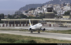 Aviolet Boeing 737-3H9 YU-AND @ Skiathos Airport (LGSK/JSI) (Joshua_Risker) Tags: skiathos airport lgsk jsi greece aviolet air serbia airserbia boeing 737 737300 7373h9 belgrade yuand