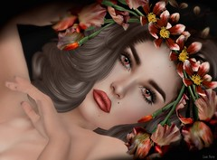 I'll take you away... (Lori Novo) Tags: lorinovo secondlife avatar virtual blogger lotus eyes glamaffair sintiklia hair lode flowers girl orange