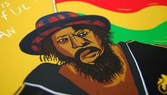 Leroy_detail (Rote-grafik) Tags: leroywallace rotegrafik georgechandrinos reggae poster reggaeposter reggaepostercontest roots ganja lion zion motorbike rastaman peaceful foxrecords jamaica thehorsemouth posterillustration illustration copicmarkers copic markers pencil reggaeflag