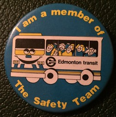 EDMONTON TRANSIT SAFETY TEAM ---PIN BACK BUTTON (woody1778a) Tags: edmonton edmontonhistory alberta canada pinback button history mycollection myhobby