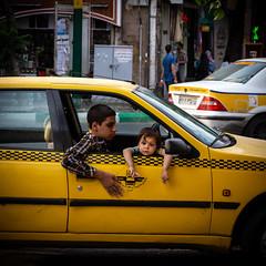 bored (The eclectic Oneironaut) Tags: 2018 6d canon eos iran selected tabriz travel viajes square cuadrado kids iranian people taxi life urban eastazerbaijanprovince irán ir