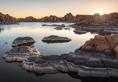 Watson Lake-5849 (Michael-Wilson) Tags: watsonlake prescott arizona michaelwilson sunrise sunstar dawn light water lake reflection tranquility tranquil rock granite lines calm stillness quite