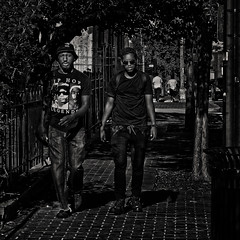 """""""Strolling The Avenue With Some Hip Hop Legends: Biggie Small, Eazy E, & Tupac,"""" Martin Luther King Jr. Avenue, Historic Anacostia, Washington, DC (Gerald L. Campbell) Tags: streetphotography street squareformat spirituality spiritualindifference socialdocumentary bw blackwhite blackmale citylife community dc digital freedom historicanacostia indifference injustice inequality male martinlutherkingjravenue urbanphotography urban washingtondc yearning yeswecan youth"""