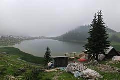 Prokoško lake, Bosnia and Herzegovina (HimzoIsić) Tags: landscape lake water mountain mountainside mountaineering village tree house hill stone fog countryside rural