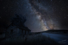 A Gift from Perseus (Gary Randall) Tags: gar84232 oregon perseids perseidmeteorshower shootingstars fallingstars deadoxranch bakercity easternoregon nightsky astrophotography milkyway stars farm ranch stonehouse