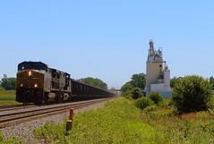 CSX coal train at Milford Indiana (Matt Ditton) Tags: csx milford indiana elevator sky