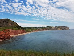 Day 4 - Coastline near the Cap Alright Lighthouse on Havre aux Maisons island (Bobcatnorth) Tags: lesilesdelamadeleine magdalenislands quebec canada summer 2018 cycling velo bicycle bicycling cycletouring bicycletouring touring tourdevelo gulfofstlawrence