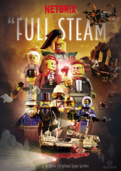 """Full Steam"" Netbrix Poster (Markus ""Madstopper"" Ronge) Tags: flugschiff steampunk legosteampunk madstopper lego toyphotography netbrix airship skypirates nadakhan"