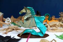 Seahorse (Marcos Origami) Tags: origami origamiart origamilatinoamerica origamilatino handmade art artwork paperart paper papercraft craftpaper craft papiroflexia seahorse fantasy