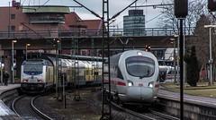 017_2018_03_20_Hamburg_Harburg_1246_509_ME_mit_RE_5_Cuxhaven_5411_563_DB_ICE_Süden (ruhrpott.sprinter) Tags: ruhrpott sprinter deutschland germany allmangne nrw ruhrgebiet gelsenkirchen lokomotive locomotives eisenbahn railroad rail zug train reisezug passenger güter cargo freight fret hamburg harburg akiem boxx ctd db dispo dbcsc dsc egp eloc locon lte me meg mt mteg nrail press rhc rsc slg 0185 0650 0812 1212 1214 1246 1261 1273 3296 3333 4482 5812 6101 6140 6143 6145 6182 6187 6193 6241 7386 logo natur graffiti