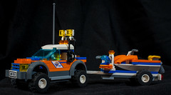 "Model# 7737 ""COAST GUARD 4WD & JET SCOOTER"" (2008) (steviep187) Tags: lego canon eos xsi rebel dslr toy collection car vehicle figurine truck helicopter airplane jet white black red blue green orange yellow pink purple brown silver gray gold indoors 80s 90s 2000s 2018 people vintage mcdonalds happymeal toys plastic motorcycle rig house tractor boat jetski new old"