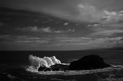 "FOZ Galicia n3 (L. Vital [www.linovital.com]) Tags: art black blackandwhite bw clouds europe landscape light lino ""lino vital"" nature photo photography photos rock sea sky spain vital water"