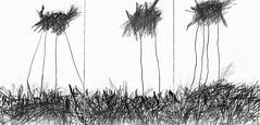 """""""il mondo intero non è che l'ansante officina del nulla"""" (dragoncello64) Tags: poesia giuliobenatti trittico drawing disegno art"""