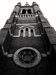 St Mary and St Joseph's Cathederal Uralla NSW (Michael @ mcmahons) Tags: flickrfriday build 7dwf bw