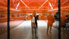 Inner Child (Sean Batten) Tags: london england unitedkingdom gb europe tatemodern tate museum artgallery nikon df 35mm orange candid people reflection city urban