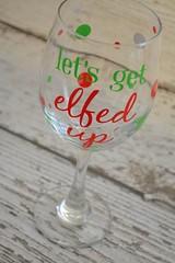 Lets Get Elfed Up Wine Glass - Fun Christmas Gift - 20oz (Home Decor and Fashion) Tags: 20oz christmas elfed fun get gift glass lets up wine