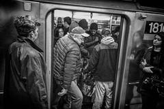 Train Vanguards. (rockerlan) Tags: sony rx100 train vanguards lexington 59th street new york nuc people subway underground photo photography candid