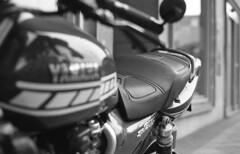 Mark of the Beast (Arne Kuilman) Tags: kosmofoto kosmofotomono iso100 contax zeiss 50mm 50mmf17 slr film homedeveloped pyrocathd 11minutes developed developer amsterdam netherlands nederland yamahaxjr1200 motorbike motorcycle bokeh