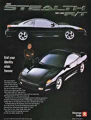 1991 Dodge Stealth R/T Twin Turbo (aldenjewell) Tags: 1991 dodge stealth rt twin turbo ad