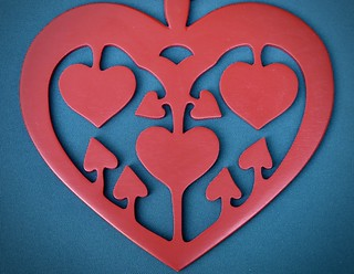 Happiness is symmetrically heart shaped ... :-)