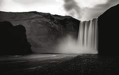 Skógafoss, Iceland (Syed Ali Warda) Tags: artistic amazing arts black white canon art iceland dramatic dark darkclouds drama distinguishedlongexposure excellent exposure exciting explore explored exposed flickr greatphotographers interesting impressive landscape landscapes monochrome outdoor observing outside overcast picture panaromic photo syedaliwarda sea sky mountain ocean water longexposure longexposureshot longexposures waterfalls rock waterfall skogafoss mist ngc