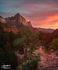The Watchman (Jeremiah Pierucci) Tags: zion nationapark sunset watchman utah water landscape travel