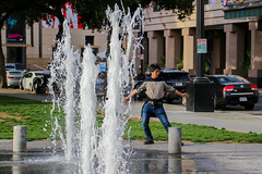 Fountain Fit - photo jeannerene (jeannerené) Tags: downtownsanjosecafountains downtownsanjoseca sanjoseca fountainsindowntownsanjose mandoingtaichinearfountin taichi siliconvalley santaclaracounty jeannerenephoto jeannerenephotostream