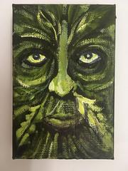 Green Man II (Ronald Hackston) Tags: painting drawing art trees vegetation green man pagan god greenman thegreenman folklore folk folkhorror