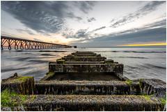 Keep On Track (Steven Peachey) Tags: seascape sunrise beach hartlepool leefilters canon5dmarkiv 5dmarkiv canon lee09gnd northeastcoast northeastengland stevenpeachey steetleypier northsands ef1740mmf4l