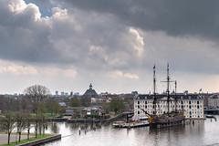 A Ship named Amsterdam (- Jan van Dijk -) Tags: ship cloud wolken ciel nederland amsterdam netherlands voc vocship