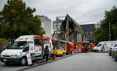 Food Truck Friday (Jocey K) Tags: newzealand nikond750 christchurch cbd building architecture trees foodtrucks people food signs earthquakedamagedchristchurchcathedral cathedralsquare sky