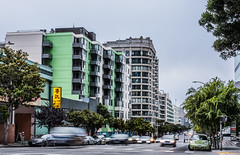 misha's color cordinated life (pbo31) Tags: bayarea california nikon d810 color july 2018 summer city urban pbo31 boury sanfrancisco roadway traffic skyline green folsomstreet fog gray overcast