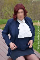 (brigitta.cd) Tags: secretary crossdresser jabot breastforms sissy