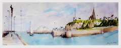 Dieppe - Normandie - France (guymoll) Tags: sketch croquis dieppe normandie france port église calvaire harbour falaise