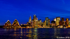 Sydney CBD Skyline Blue Hour (orgazmo) Tags: sydney sydneyharbour sydneycbd operahouse buildings cityscapes city landscapes nightshots nightscapes outdoors bluehour australia nsw newsouthwales olympus mzuiko12100mmf4ispro omd em1mk2 micro43s m43s