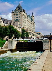 Rideau Canal and the Chateau Laurier (joanneclifford) Tags: rideau canal chateau laurier ottawa locks lock stations colonel by fujifilm xt20 xf1855mm water