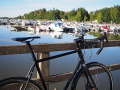 2018 Bike 180: Day 171, August 8 (olmofin) Tags: 2018bike180 bicycle polkupyörä marina venesatama otsolahti espoo sea meri lumix 20mm f17 finland
