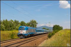 30-07-18 CD 380 008  + Eurocity 'Metropolitan', Szödliget (Julian de Bondt) Tags: metropolitan 380 skoda train eurocity szodlget