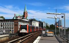 HHA DT3 858 (Canonfan92) Tags: ubahn hochbahn hamburg landungsbrücken dt3