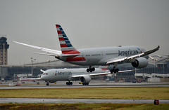 American Airlines Boeing 787-8 Dreamliner (DPhelps) Tags: kdfw dfw dallasfortworth dallas fort worth internationalairport founders storm rain vortices vapor condensation aviation airplane plane jet airliner n807aa b787 dreamliner 787 aa aal