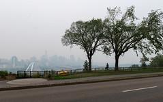 The View Point, Edmonton (WherezJeff) Tags: edm edmonton walterdalebridge yeg man person smoke alberta canada d850 haze