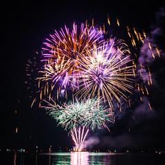 Summer night Fireworks (NJ.B) Tags: fireworks firework dark black color colours coloursplash colorsplash water reflection reflections switzerland romanshorn sommernachtfest summer night dslr a900 sony sonyalpha longexposure exposure