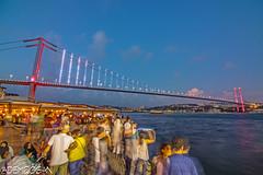 ISTANBUL (01dgn) Tags: bosphorus bogaz istanbul turkey türkei türkiye travel city night wideangle 15temmuzşehitlerköprüsü boğaziçi