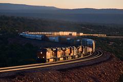 BNSF 5876 at Eagle Nest (Ray C. Lewis) Tags: bnsf burlingtonnorthernsantafe seligmansub pica train railroads transportation arizona northernarizona railroadin intermodal views scenic landscape