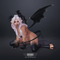 Succubus Set by Sweet Thing. (Sweet Thing.) Tags: sl secondlife second life sweetthing bento romp kink demon devil succubus roleplay cosplay wings maitreya belleza freya hourglass slink
