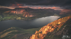 Ennerdale from Crag Fell (►►M J Turner Photography ◄◄) Tags: ennerdale ennerdalewater cragfell bownessknott greatborne herdus herdusscaw gavelfell sunset starlingdodd redpike highstile pillar